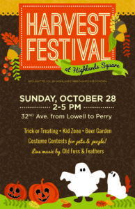 harvest festival, Sunday, October 28, 2-5pm